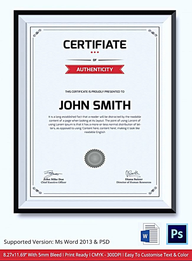 Photography Certificate Of Authenticity Template Inspirational Certificate Of Authenticity Template What Information to