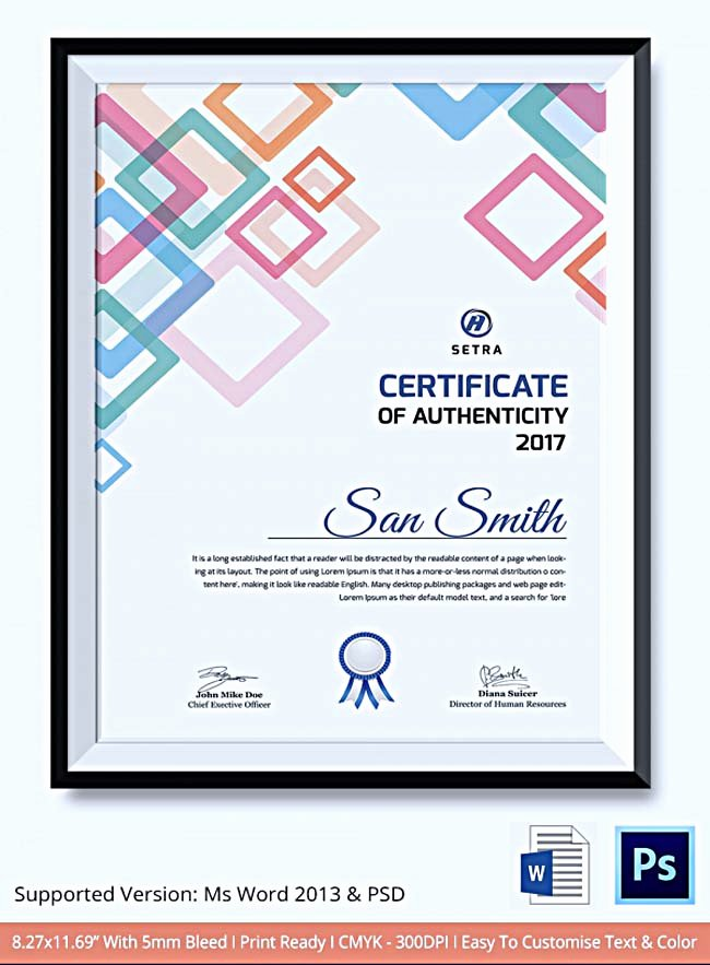 Photography Certificate Of Authenticity Template Luxury Certificate Of Authenticity Template What Information to