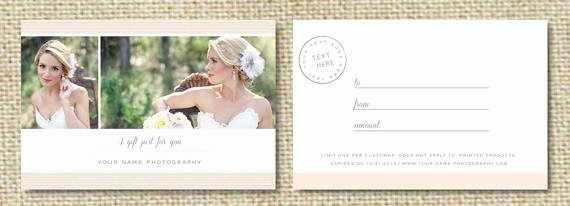 Photography Gift Certificate Template Free Best Of Sale Gift Card Template for Wedding Graphers