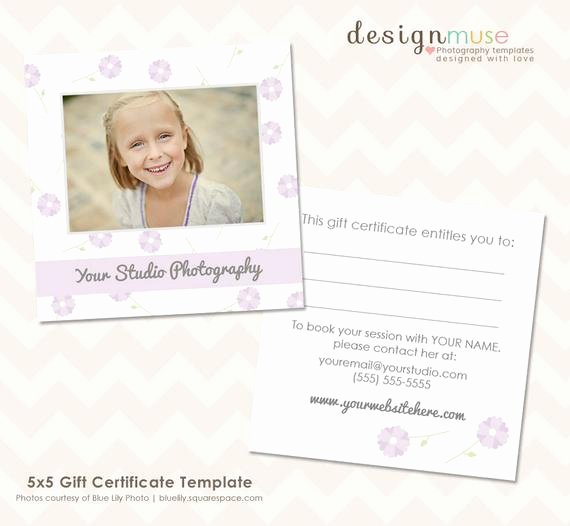 Photography Gift Certificate Template Free Download Best Of Items Similar to Graphy Gift Certificate Template 5x5