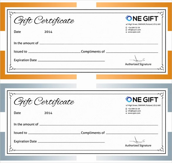 Photography Gift Certificate Template Free Download Elegant 12 Blank Gift Certificate Templates