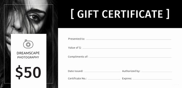 Photography Gift Certificate Template Free Download Luxury 12 Graphy Gift Certificate Templates – Free Sample