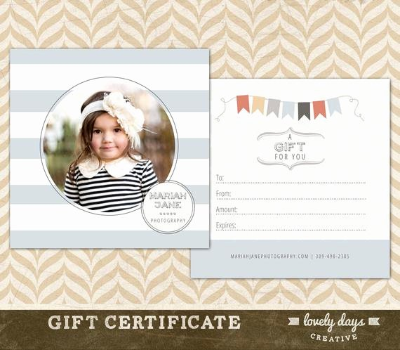 Photography Gift Certificate Template Free Download Luxury Graphy Gift Certificate Template for Graphers