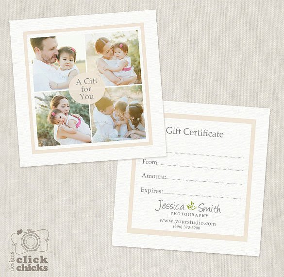 Photography Gift Certificate Template Free Download Unique Graphy Gift Certificate Templates – 17 Free Word