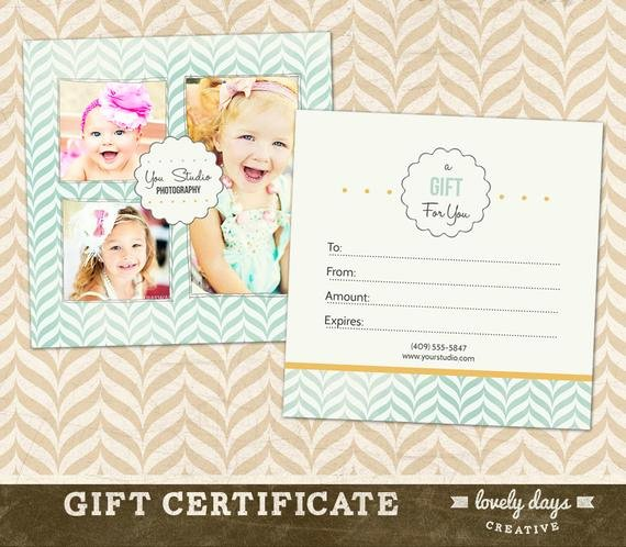 Photography Gift Certificate Template Free Elegant Graphy Gift Certificate Template for Professional
