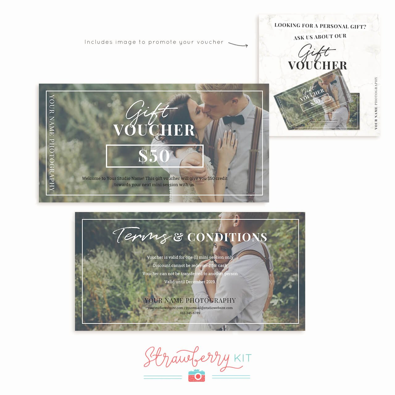 Photography Gift Certificate Template Free Elegant Graphy Gift Voucher Template Strawberry Kit