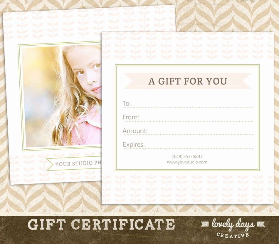 Photography Gift Certificate Template Free Fresh Graphy Gift Certificate Template for Professional