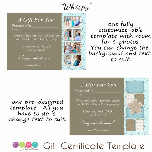 Photography Gift Certificate Template Free Lovely Mick Luvin Photography