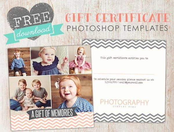 Photography Gift Certificate Template Free Luxury Free Gift Certificate Template Shop – Birdesign