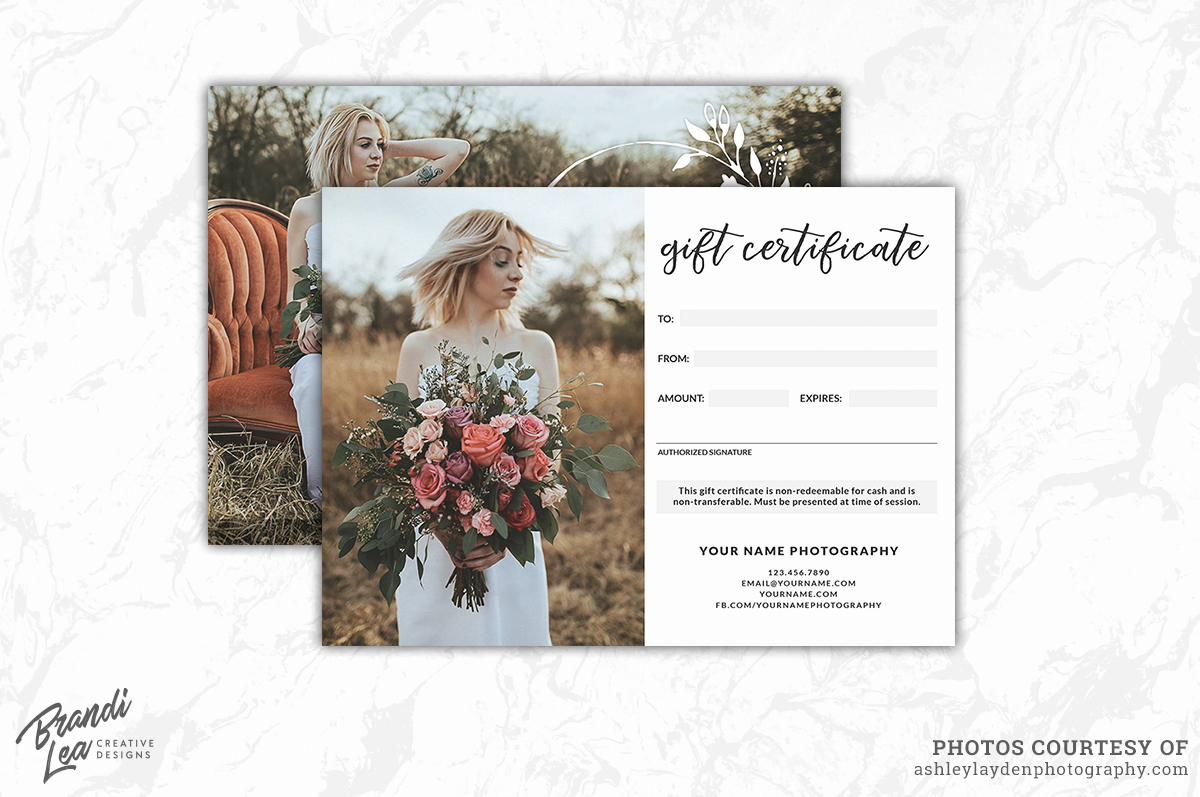 Photography Gift Certificate Template Free New Graphy Gift Certificate Template