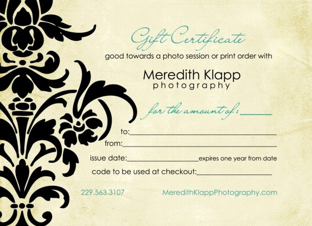 Photography Gift Certificate Template Fresh 1000 Images About Gift Certificate Design On Pinterest