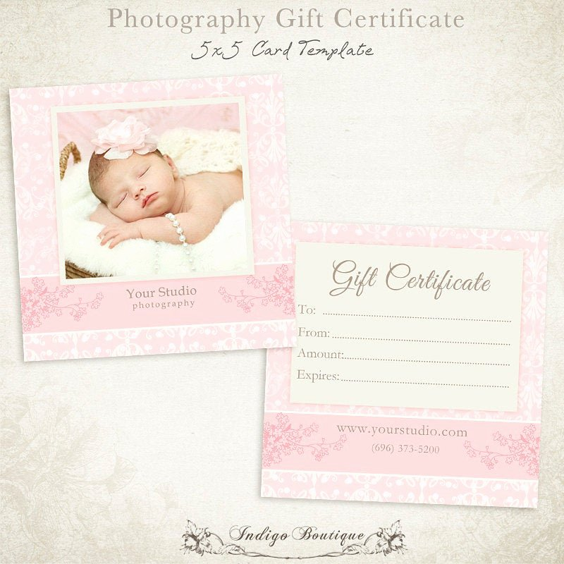 Photography Gift Certificate Template Fresh Graphy Gift Certificate Photoshop Template 011 Id0132