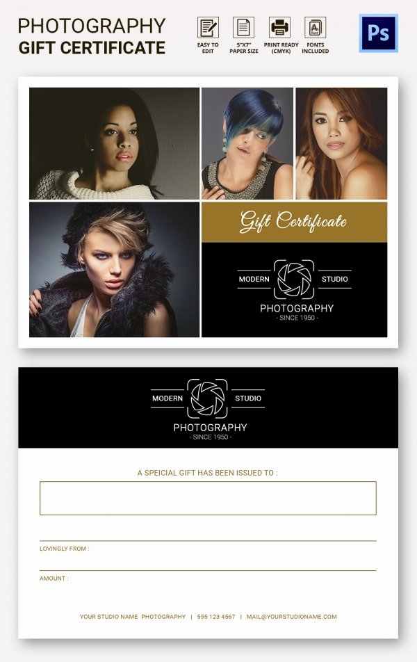 Photography Gift Certificate Template Fresh Graphy Gift Certificate Template – 13 Free Word Pdf