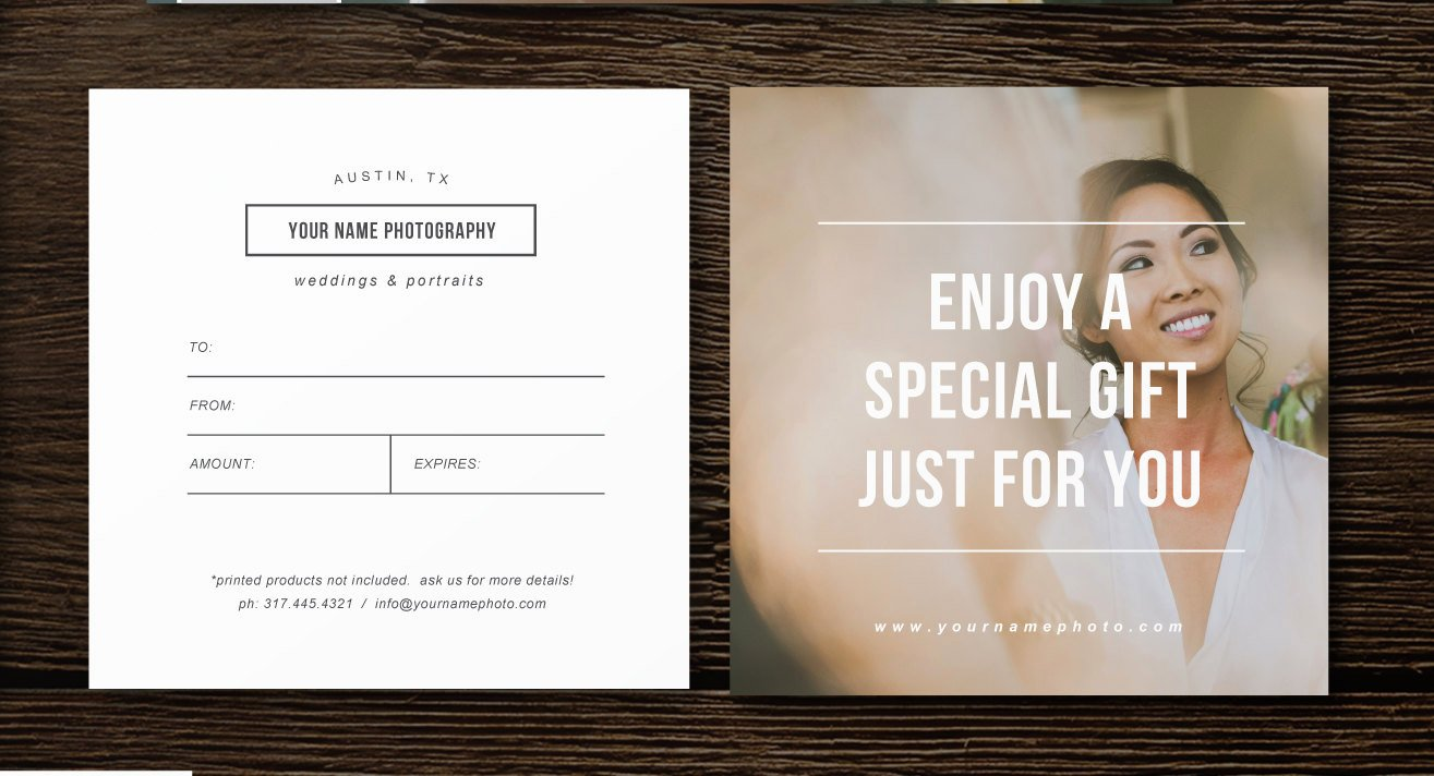 Photography Gift Certificate Template Lovely Sale Gift Card Template Professional Graphy Templates