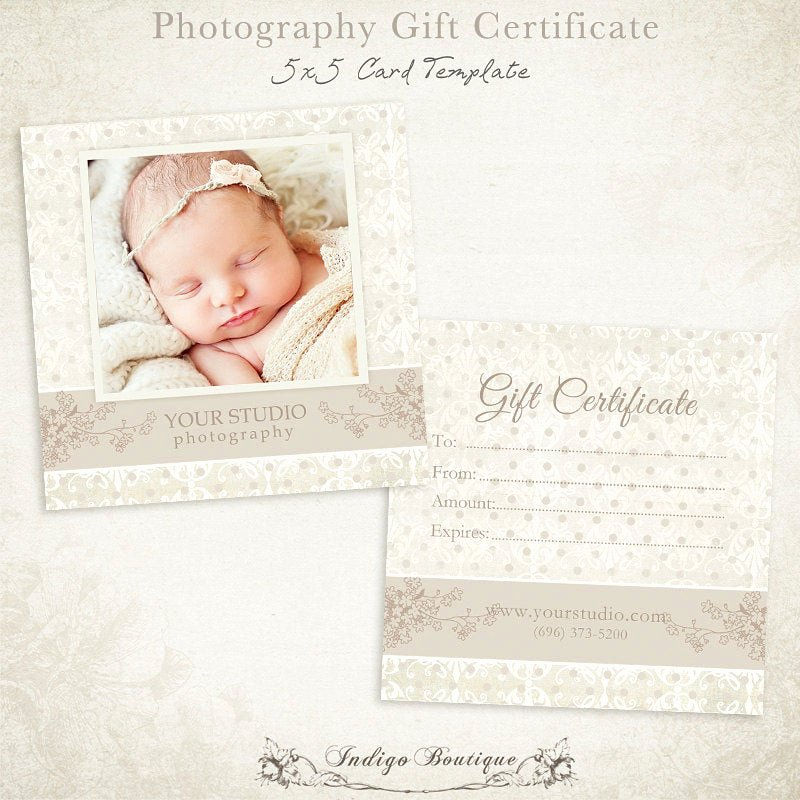 Photography Gift Certificate Template Luxury Graphy Gift Certificate Photoshop Template 007 Id0105
