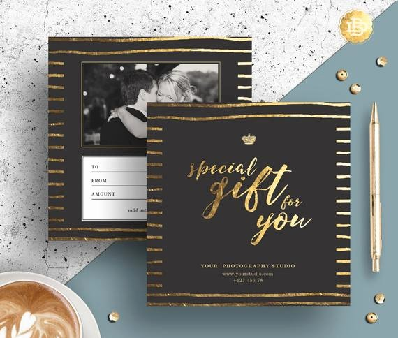 Photography Gift Certificate Template Luxury Graphy Gift Certificate Template Gift Card Design