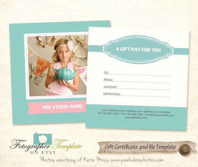 Photography Gift Certificate Template Unique Gift Certificate Card Template Graphy Templates G112
