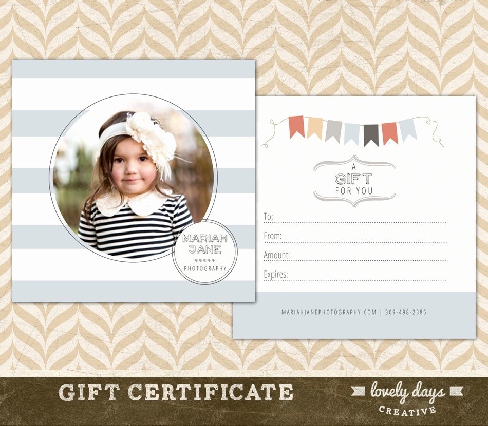 Photography Gift Certificate Templates Elegant Graphy Gift Certificate Template for Graphers