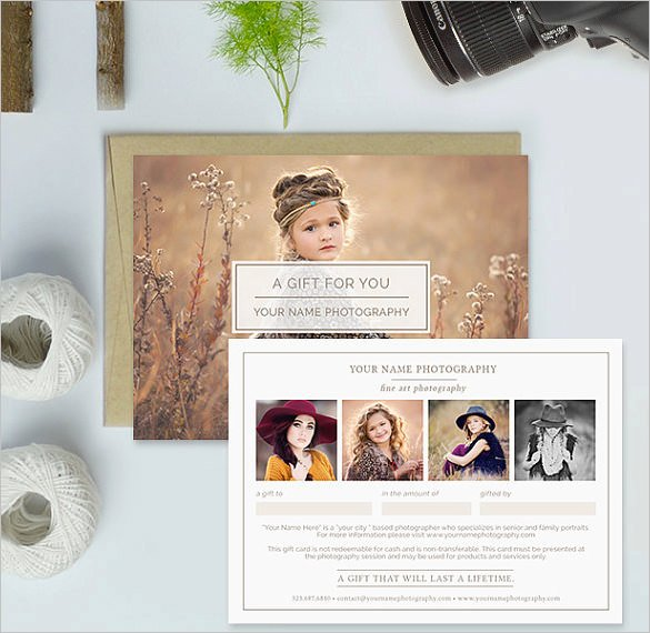 Photography Gift Certificate Templates Elegant Graphy Gift Certificate Templates – 17 Free Word
