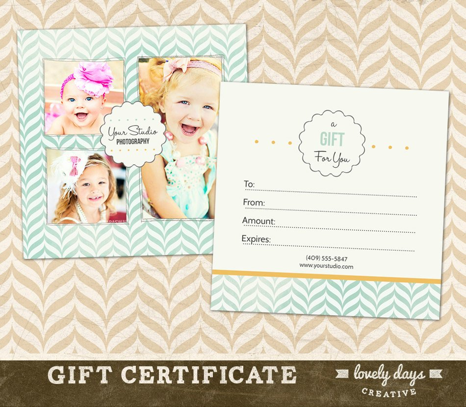 Photography Gift Certificate Templates New Graphy Gift Certificate Template for by