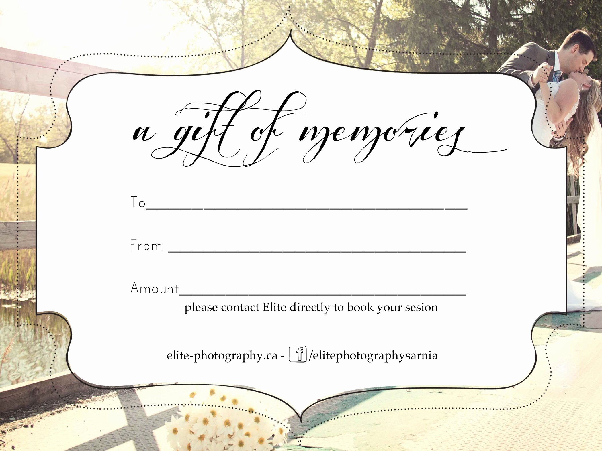 Photography Gift Certificate Templates Unique Free Graphy Gift Certificate