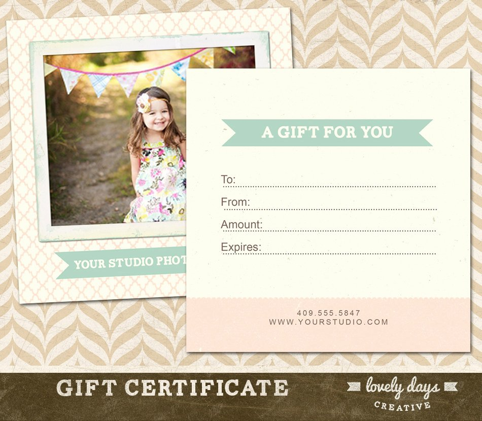 Photography Gift Certificate Templates Unique Graphy Gift Certificate Template for Professional