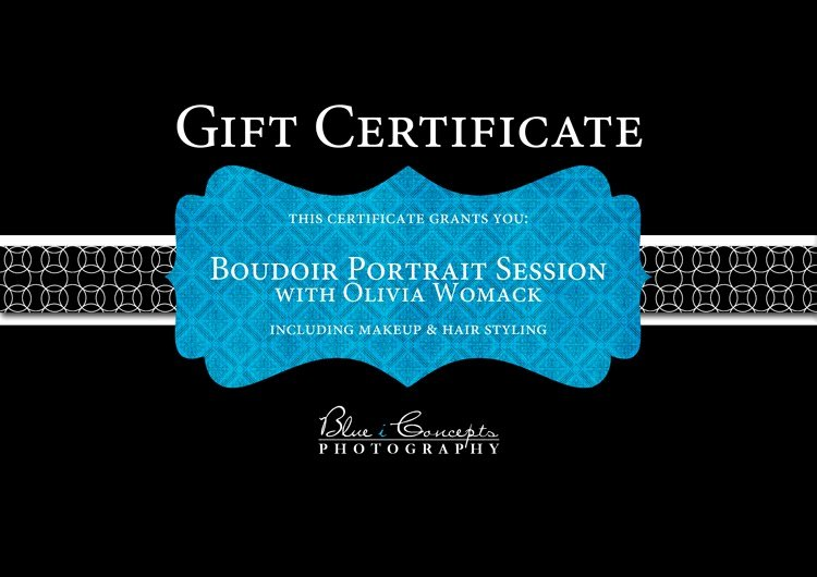 Photography Session Gift Certificate Template Awesome Blue I Concepts Graphy Arizona Boudoir Photographer