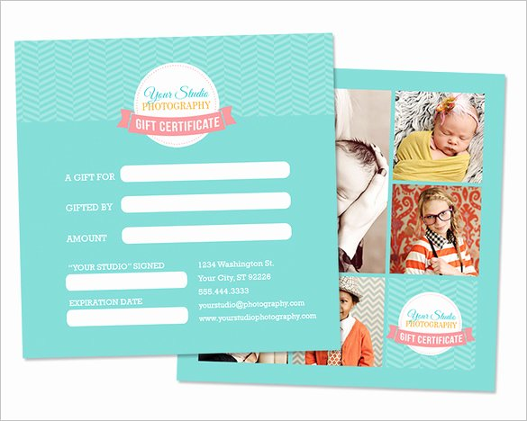 Photography Session Gift Certificate Template Inspirational Graphy Gift Certificate Templates – 17 Free Word
