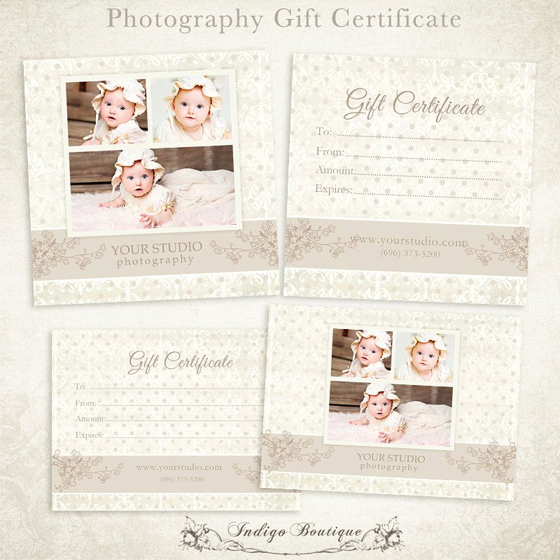 Photography Session Gift Certificate Template Lovely Graphy Gift Certificate Photoshop Template 006 Id0104