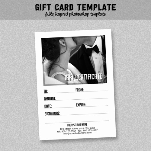 Photoshop Gift Certificate Template Beautiful General Business Gift Certificate Black and White