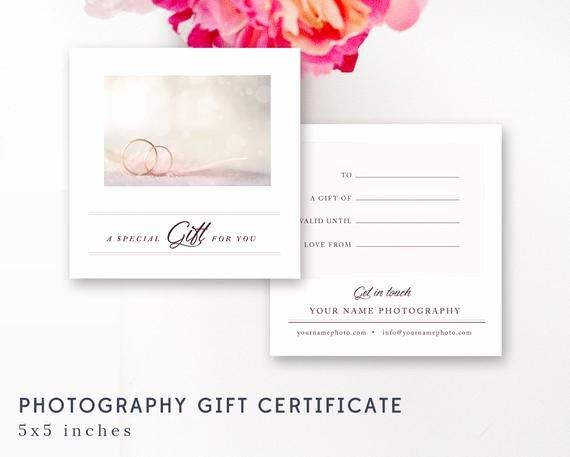 Photoshop Gift Certificate Template Beautiful Graphy Gift Certificate Template Shop File Wedding
