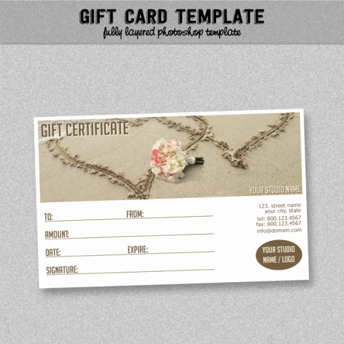 Photoshop Gift Certificate Template Best Of General Business Gift Certificate Brown Layered