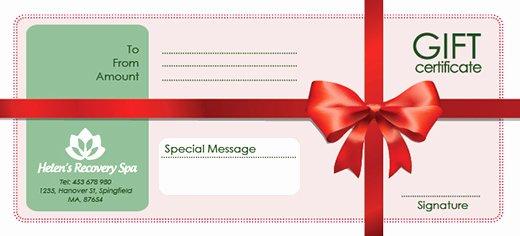 Photoshop Gift Certificate Template Elegant Free Holiday Gift Certificate Templates In Shop and