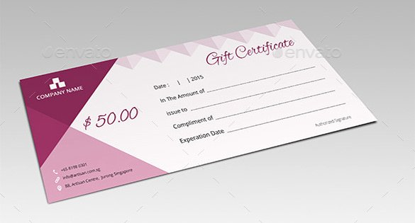 Photoshop Gift Certificate Template Fresh 7 Email Gift Certificate Templates Free Sample Example