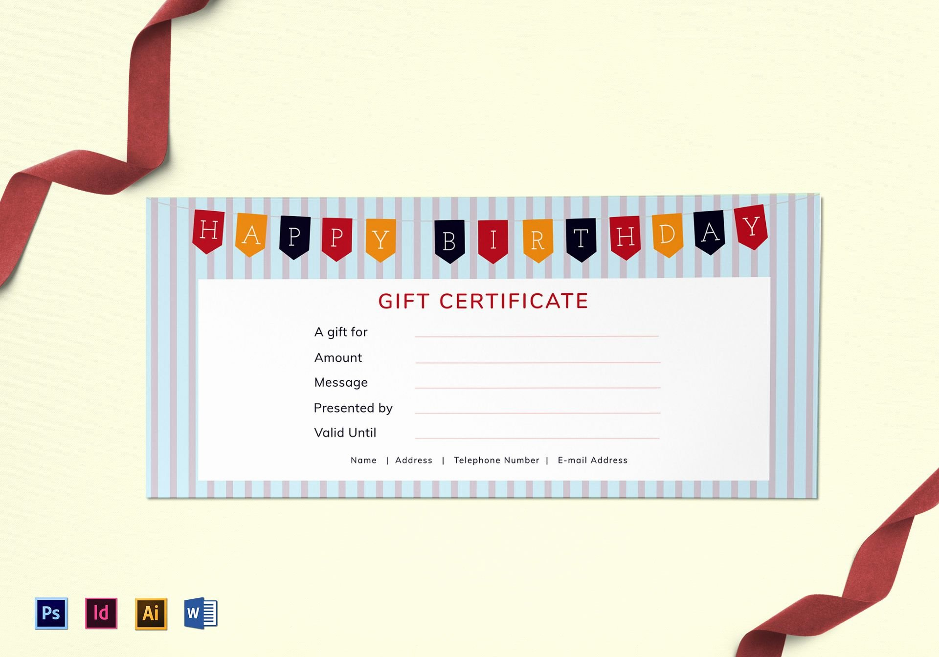 Photoshop Gift Certificate Template Inspirational Shop Gift Certificate Template Download