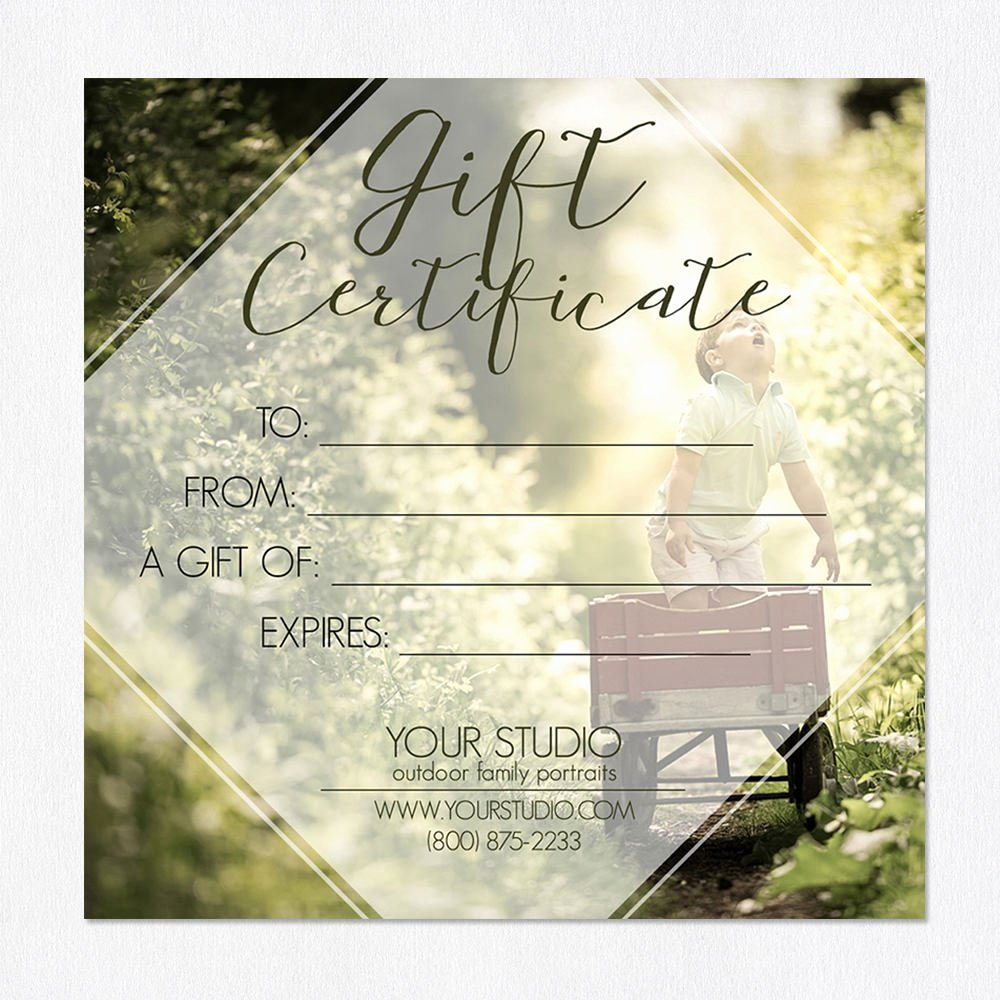 Photoshop Gift Certificate Template Lovely for A Lifetime
