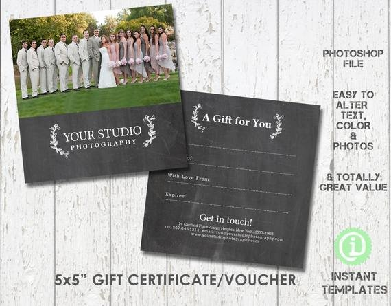 Photoshop Gift Certificate Template New Graphy Gift Certificate Template Shop Template