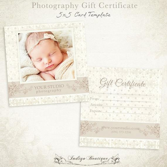 Photoshop Gift Certificate Template Unique Graphy Gift Certificate Photoshop Template by