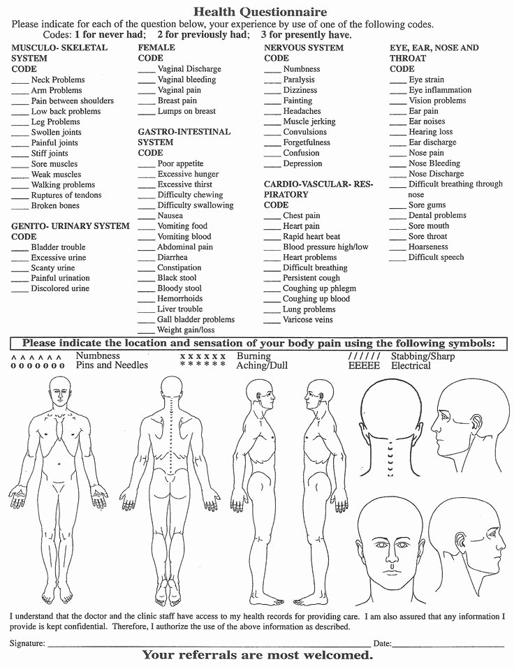 Physical therapy Intake form Template Lovely Chair Massage Intake form Body Massage Consultation form