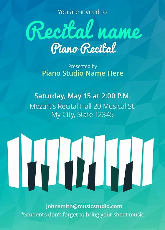 Piano Recital Certificate Template Awesome Pinterest • the World's Catalog Of Ideas