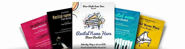 Piano Recital Certificate Template Fresh 26 Best Images About Piano Recital Invitations On