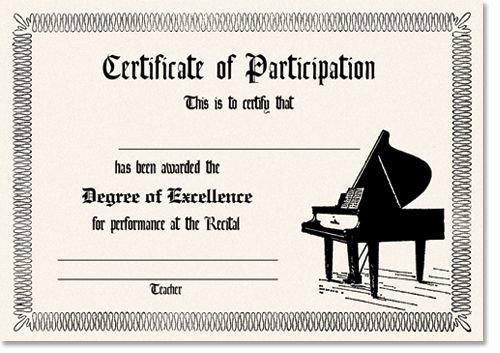 Piano Recital Certificate Template Unique 11 Best Recital Certificates Images On Pinterest