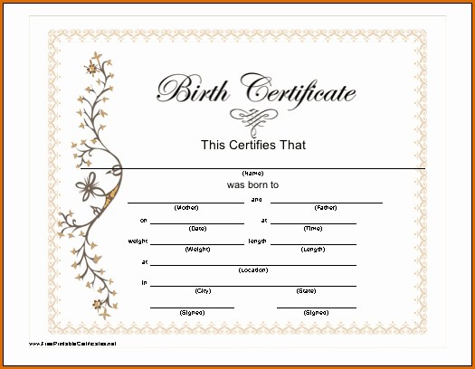Pictures Of Blank Birth Certificates Fresh 7 Blank Birth Certificate