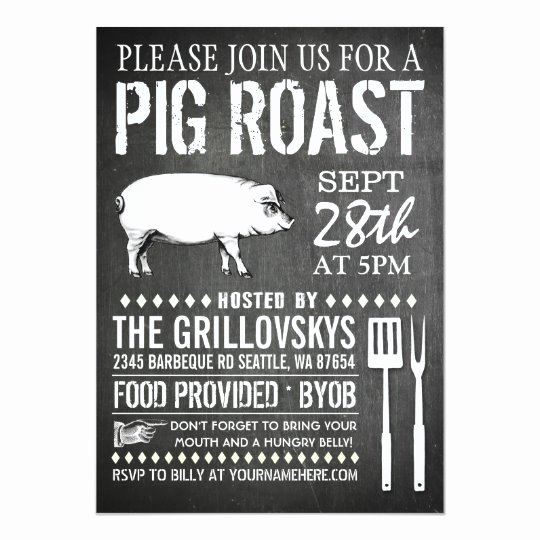 Pig Roast Invitation Template Free Beautiful Vintage Chalkboard Pig Roast Invitation