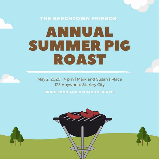 Pig Roast Invitation Template Free Best Of Customize 55 Pig Roast Invitation Templates Online Canva