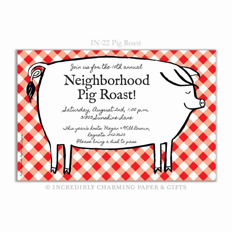 Pig Roast Invitation Template Free Best Of Pig Roast Invites Sf74 – Advancedmassagebysara