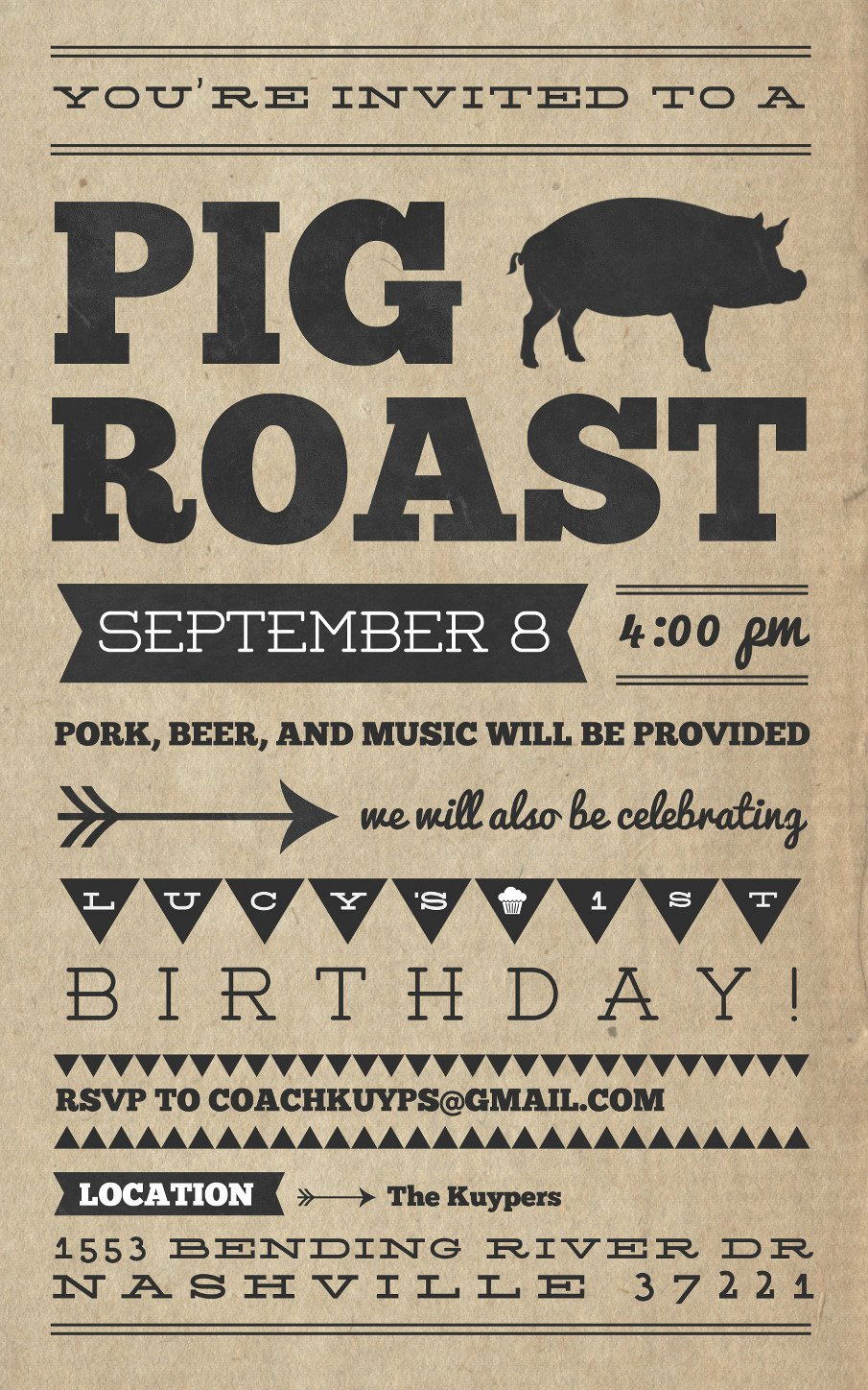 Pig Roast Invitation Template Free Elegant Pig Roast Invitation Templates
