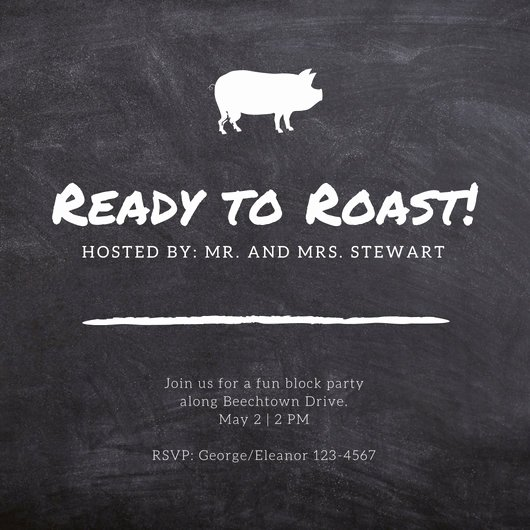 Pig Roast Invitation Template Free Fresh Customize 55 Pig Roast Invitation Templates Online Canva