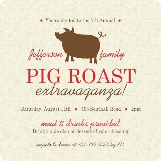 Pig Roast Invitation Template Free Inspirational 17 Best Images About Pig Roast Party On Pinterest