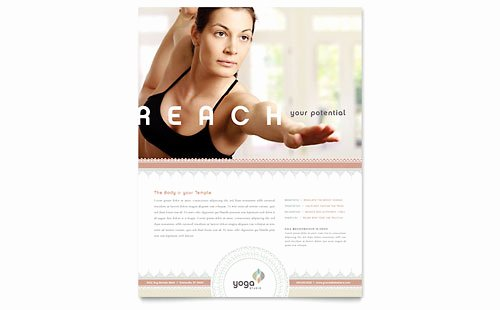 Pilates Gift Certificate Template Beautiful Pilates & Yoga Flyer & Ad Template Word & Publisher